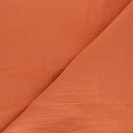 Tissu coton lavé uni Dili - abricot x 10cm
