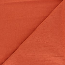 Plain washed cotton fabric - carrot Dili x 10cm