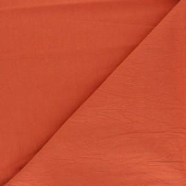 Tissu coton lavé uni Dili - carotte x 10cm