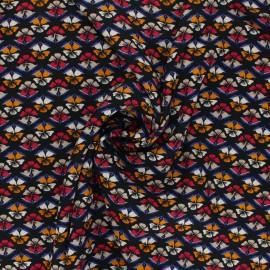 Tissu viscose Janelle - noir x 10cm