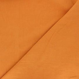 Plain washed cotton fabric - orange Dili x 10cm