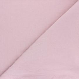 Tissu coton lavé uni Dili - rose clair x 10cm