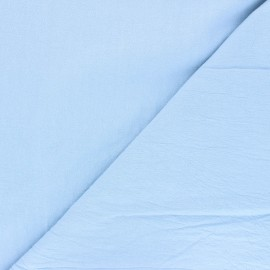 Tissu coton lavé uni Dili - bleu layette x 10cm
