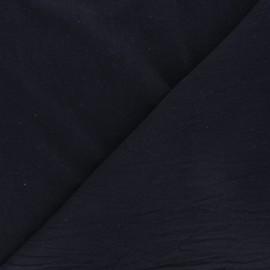 Tissu coton lavé uni Dili - bleu marine x 10cm