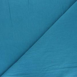 Tissu coton lavé uni Dili - bleu canard x 10cm