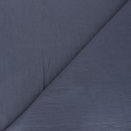 Tissu coton lavé uni Dili - bleu saphir x 10cm