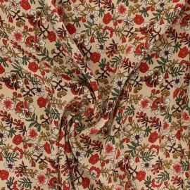 Tissu polyester satiné Alena - beige x 10cm