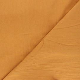 Tissu coton lavé uni Dili - miel x 10cm