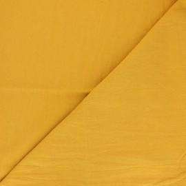 Tissu coton lavé uni Dili - jaune moutarde x 10cm
