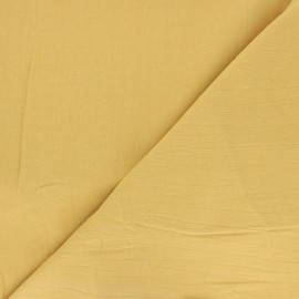 Plain washed cotton fabric - yellow Dili x 10cm