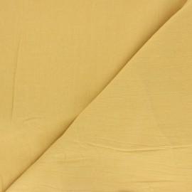 Tissu coton lavé uni Dili - jaune x 10cm