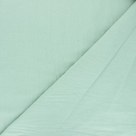 Plain washed cotton fabric - green mint Dili x 10cm