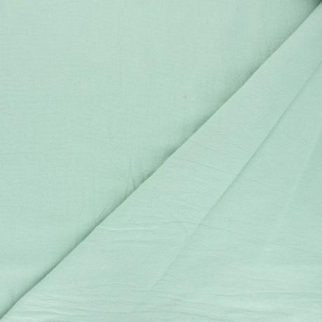 Tissu coton lavé uni Dili - menthe x 10cm