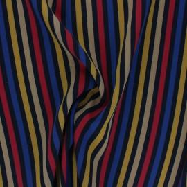 Elastane polyester fabric - multicolor Retrostripe x 10cm