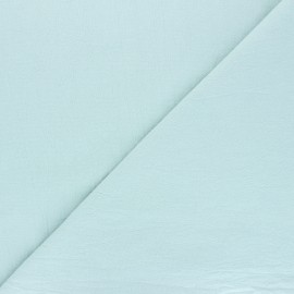 Plain washed cotton fabric - opaline Dili x 10cm