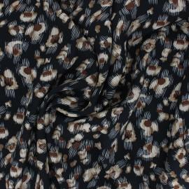 Tissu viscose Chabrun - noir x 10cm