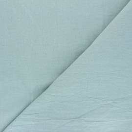 Plain washed cotton fabric - sarcelle Dili x 10cm