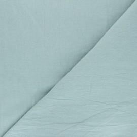 Tissu coton lavé uni Dili - sarcelle x 10cm
