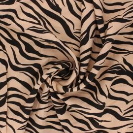 Tissu viscose Grrrappuccino - crème x 10cm