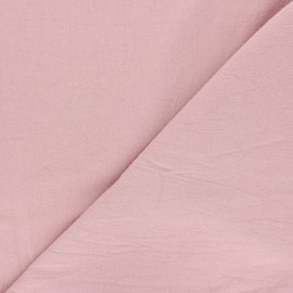 Tissu coton lavé uni Dili - vieux rose x 10cm