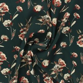 Tissu satin polyester Dryed Flower - vert x 10cm
