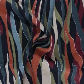 Tissu viscose Colorful Camo - noir x 10cm