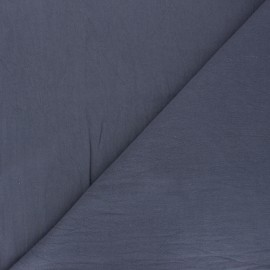 Plain washed cotton fabric - slate grey Dili x 10cm