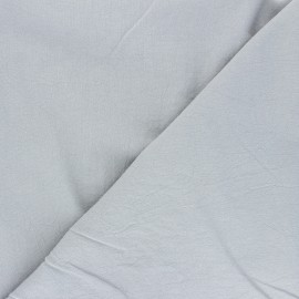 Plain washed cotton fabric - mouse grey Dili x 10cm