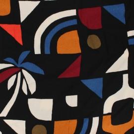 Tissu crêpe de viscose Ocean Ridge - noir x 10cm