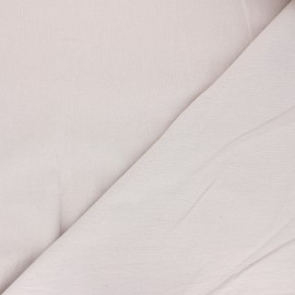 Plain washed cotton fabric - greige Dili x 10cm