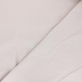 Tissu coton lavé uni Dili - grège x 10cm