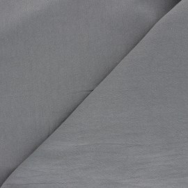 Plain washed cotton fabric - grey Dili x 10cm