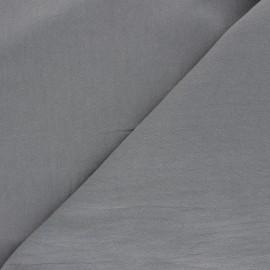 Tissu coton lavé uni Dili - gris x 10cm