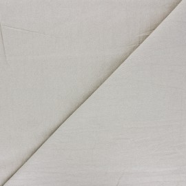 Plain washed cotton fabric - sand Dili x 10cm