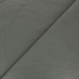 Tissu coton lavé uni Dili - kaki x 10cm