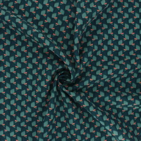 Tissu polyester satin mat Pearl Peach Tiny Vibe by Penelope® - Vert x 10cm