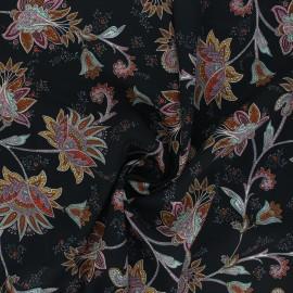 Light Crepe fabric - black Laya x 10cm