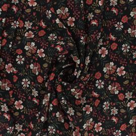 Light Crepe fabric - black Flores x 10cm