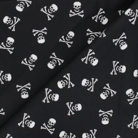 Cotton poplin fabric - black Le clan des skulls x 10cm