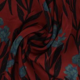 Patterned Viscose Fabric - mahogany x 10cm