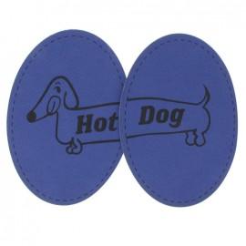 Coudières Genouillères Hot Dog indigo toile