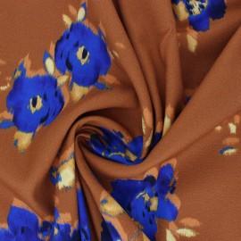 La Maison Victor viscose crepe fabric - brown Livia x 10 cm