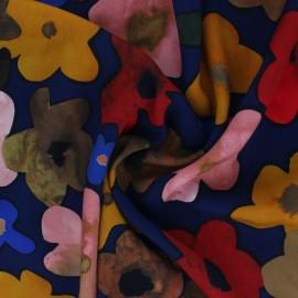 Tissu viscose La Maison Victor Fleurance - bleu x 10cm