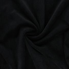Tissu velours côtelé washé Jules - noir x 10cm