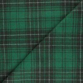 Tissu Lainage élasthanne à carreaux Evans - vert x 10cm