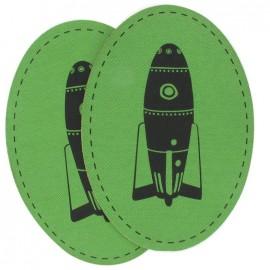 Coudières Genouillères Fusée verte toile