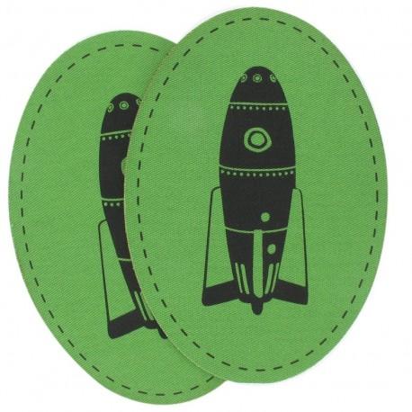 Coudières Genouillères Fusée verte velours