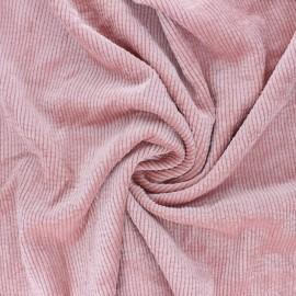 Tissu velours côtelé washé Jules - rose x 10cm