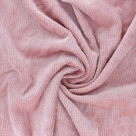 Washed ribbed velvet fabric - pink Jules x 10cm