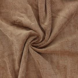 Tissu velours côtelé washé Jules - tabac x 10cm